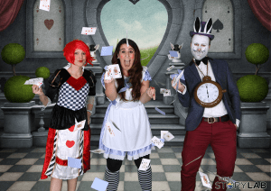 alice wonderland green screen photography