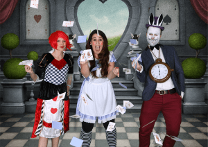 alice in wonderland green screen photography