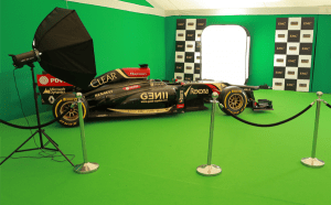 f1 green screen