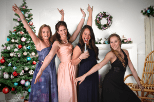 christmas party green screen photo