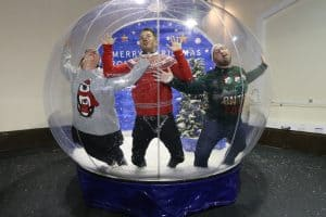 giant snowglobe photography