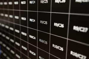 empty grid of mosaic wall