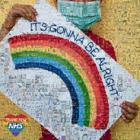 NHS photo mosaic wall