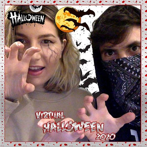 halloween virtual photobooth